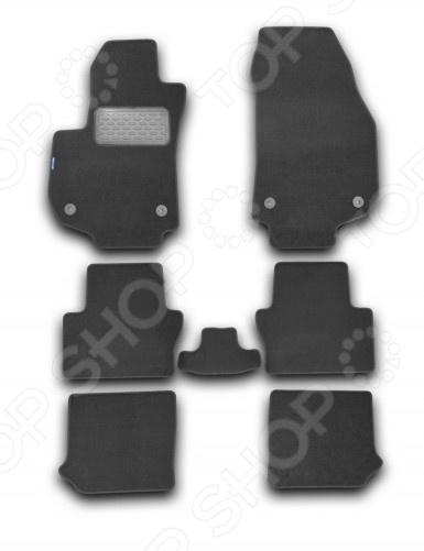 Комплект ковриков в салон автомобиля Novline-Autofamily Opel Zafira B 2005 минивэн. Цвет: черный
