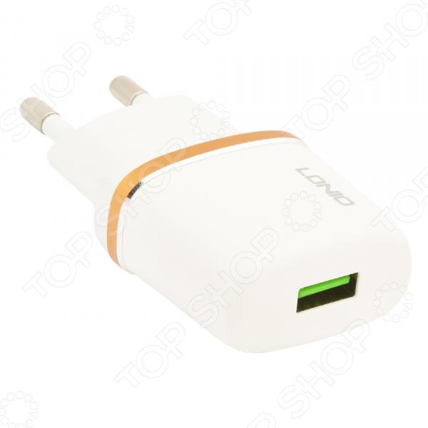Устройство зарядное сетевое Ldnio Apple 8 pin DL-AC50 сетевое зарядное устройство belkin boost up кабель apple 8 pin белый
