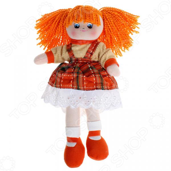 Мягкая кукла Gulliver Апельсинка в клетчатом платье игрушка мягкая gulliver кукла хозяюшка 30см