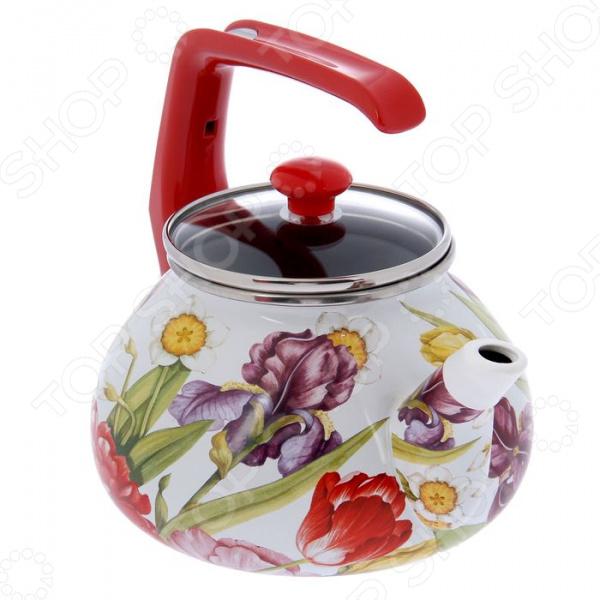 Чайник Interos «Каприз» кастрюля interos 15231 маслины 5 7 л углеродистая сталь