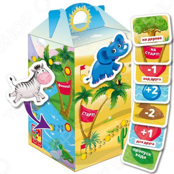Игра настольная с липучками Vladi Toys «Беги, слоник!» настольная игра vladi toys игры с прищепками внимательный малыш