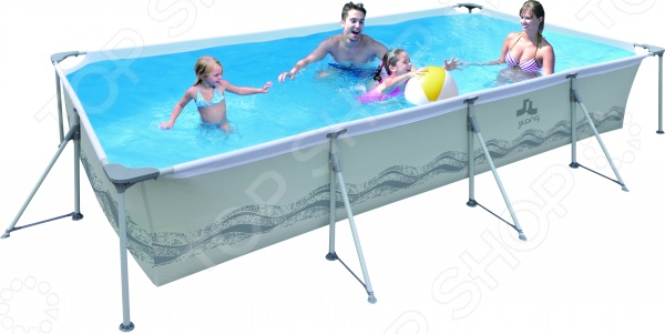Бассейн каркасный Jilong Rectangular Steel Frame Pools JL017442NG