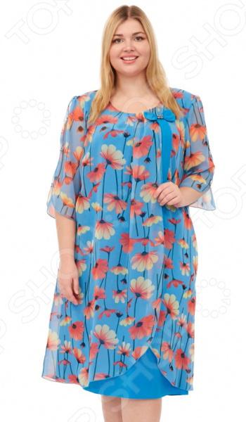Платье Laura Amatti «Первое свидание». Цвет: голубой