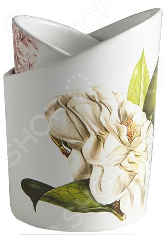 Подставка под кухонные принадлежности Ceramiche Viva «Яблоки и камелии»
