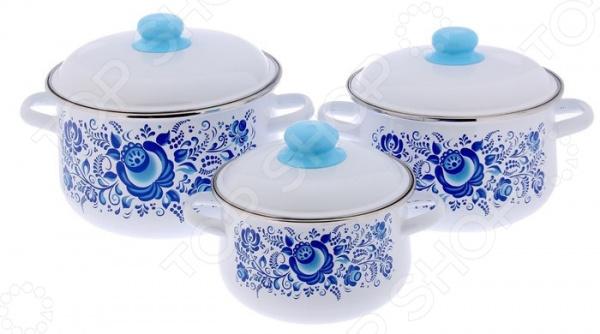 Набор посуды Северсталь «Гжель»