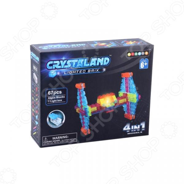 Конструктор со световыми эффектами N-BRIX Crystaland «Истребитель 4 в 1» crystaland конструктор истребитель 6 в 1