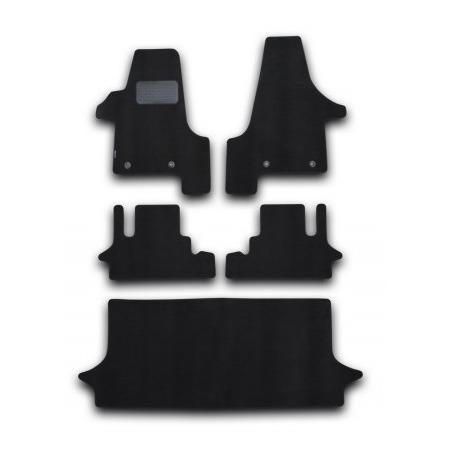 Купить Комплект ковриков в салон автомобиля Novline-Autofamily Volkswagen Multivan HighLine 2004 минивэн. Цвет: черный