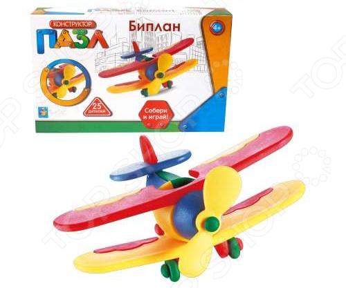 Конструктор игрушечный 1 Toy «Биплан» 1 toy игрушечный автомат пулемет взвод