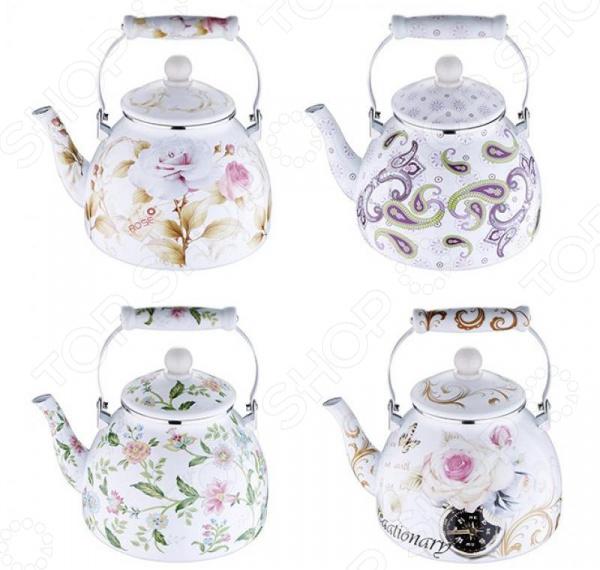 Чайник стальной Wellberg WB-3430 Florid чайник wellberg wb 3431 f