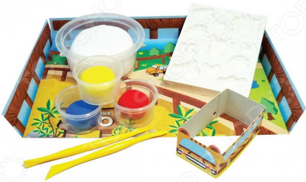 Набор для лепки из массы Kinder Club Зоопарк 4m фигурки из формочки грузовики 4м