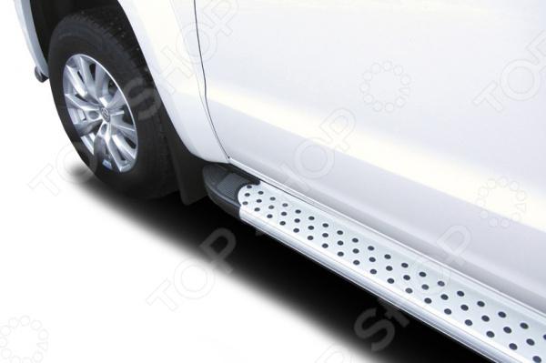 Комплект защиты штатных порогов Arbori Standart Silver 2000 для Volkswagen Amarok, 2016 комплект защиты штатных порогов arbori standart silver 1700 для mitsubishi asx 2014