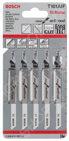 Набор пилок для лобзика Bosch T 101 AIF BIM