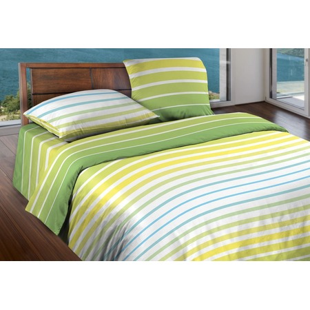 Купить Комплект постельного белья Wenge Stripe. 2-спальный. Цвет: желтый