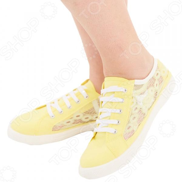 Кеды АЛМИ «Ева». Цвет: желтый
