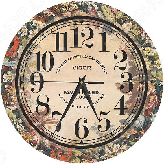 Часы настенные Vigor Д-29 «Элегия» часы vigor д 29 розовые розы