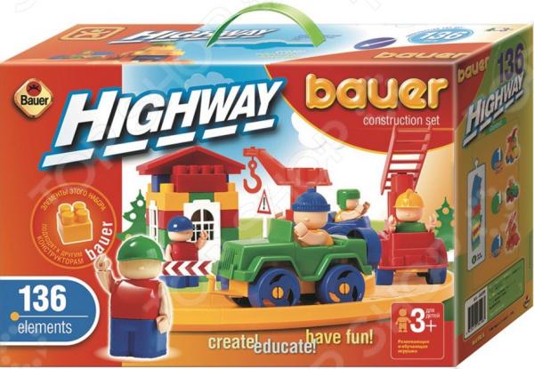 Конструктор игровой Bauer «Автодорога» ЯВ118333 bauer bauer конструктор автодорога 215 элементов