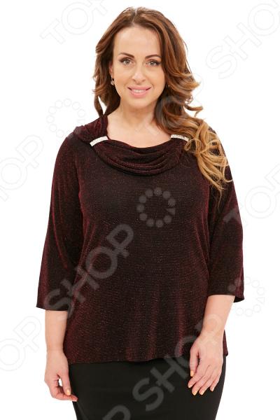 Блуза Blagof «Новогодний блеск». Цвет: бордовый блуза blagof блуза бабочка цвет красный