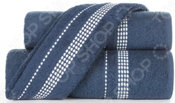 Полотенце махровое Aquarelle «Лето». Цвет: темно-синий