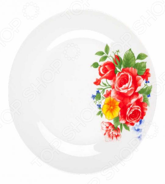Тарелка десертная Miolla «Цветы-2» тарелка десертная miolla изящество