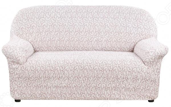 Натяжной чехол на двухместный диван Еврочехол «Тела Безарро»