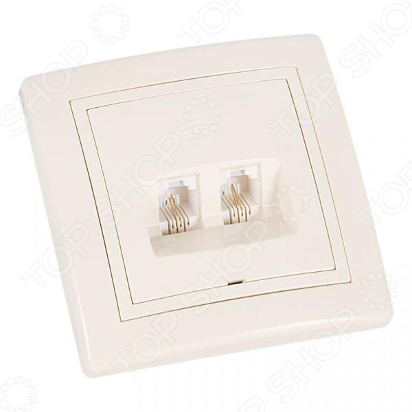 Розетка телефонная Rexant 78-0162 коробка для подключения скрытой электрической проводки сунержа 00 1518 0000