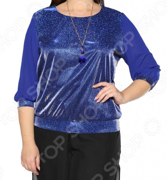 Блуза Blagof «Блестящий стиль». Цвет: васильковый блуза blagof блуза мерси цвет персиковый