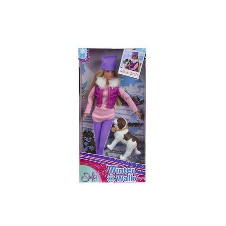 Купить Кукла с аксессуарами Simba Штеффи на прогулке с собакой