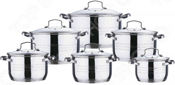 Набор посуды для готовки Rainstahl 1227-12RS/CW набор посуды rainstahl цвет стальной 12 предметов 1227 12rs cw
