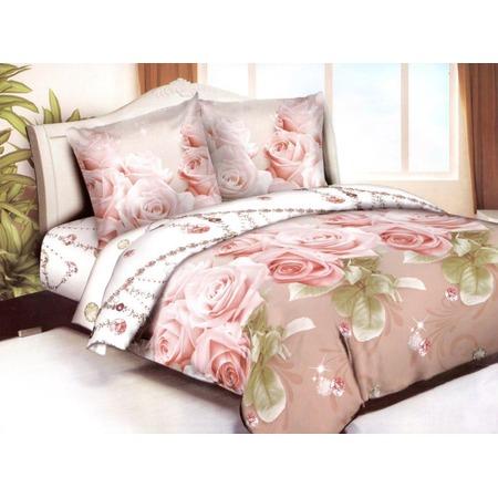 Комплект постельного белья «Бриллиантовые розы». Евро