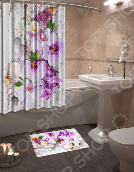 Набор для ванной комнаты: шторка и коврик ТамиТекс «Фант»
