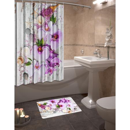 Купить Набор для ванной комнаты: шторка и коврик ТамиТекс «Фант»