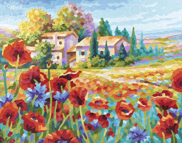 Набор для рисования по номерам Schipper «Маковое поле» раскраска по номерам маковое поле 28x39см