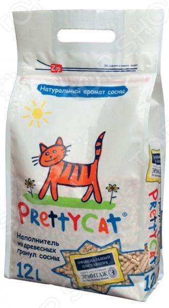 Наполнитель для кошачьего туалета PrettyCat 620338 Wood Granules