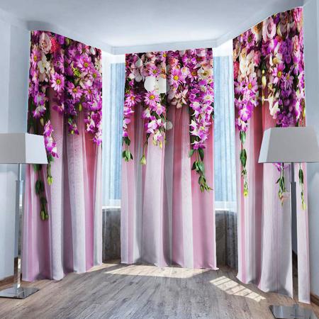 Купить Фотошторы ТамиТекс «Ламбрекен из цветов». Количество полотен: 3 шт