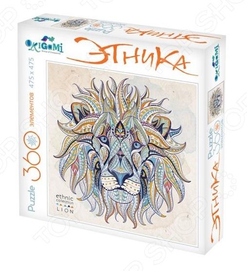 Пазл 360 элементов Оригами «Арт-терапия: Лев»