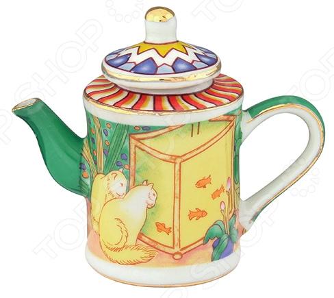 Чайник сувенирный Elan Gallery «Кошки у аквариума» Elan Gallery - артикул: 967592