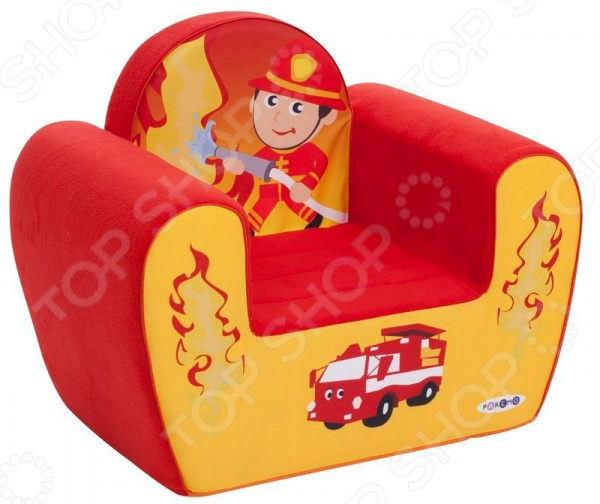 Кресло детское игровое PAREMO «Пожарный» энциклопедии издательство аст п волцит книга динозавры