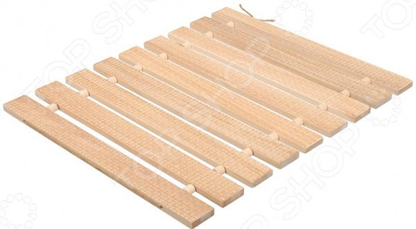 Коврик деревянный Банные штучки «Рогожка» цена и фото