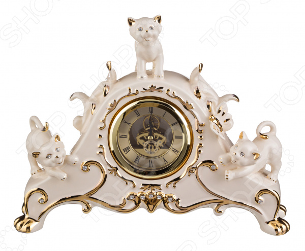 Часы настольные Lefard «Кошки» 98-1515 купить часы мальчику 7 лет