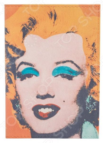 Обложка для паспорта кожаная Mitya Veselkov «Монро. Уорхол» обложка для паспорта mitya veselkov монро с бусами