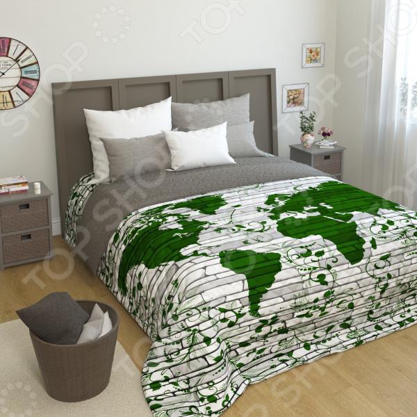 Покрывало стеганое Сирень «Мировая карта»