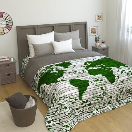 Купить Покрывало стеганое Сирень «Мировая карта»