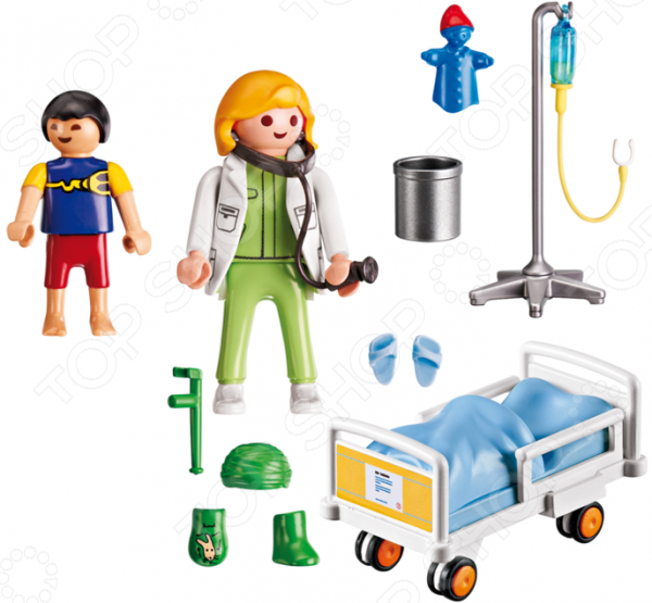 Игровой набор Playmobil «Детская клиника: Доктор с ребенком» playmobil® детская клиника вертолет скорой помощи playmobil