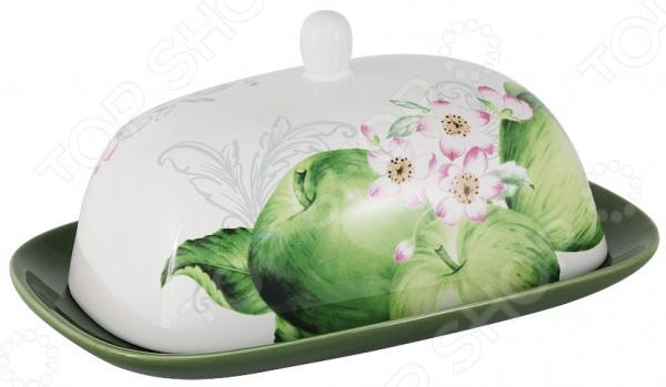 Масленка Imari «Зеленые яблоки» банка для сыпучих продуктов imari зеленые яблоки im55060 1 a2211al