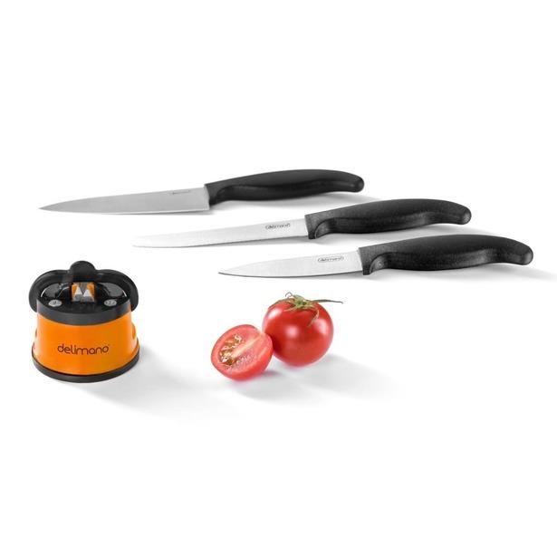 фото Ножеточка Delimano «Брава» и набор из 3-х ножей