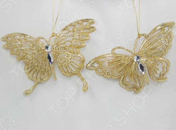 Новогоднее украшение Crystal Deco «Бабочка». В ассортименте
