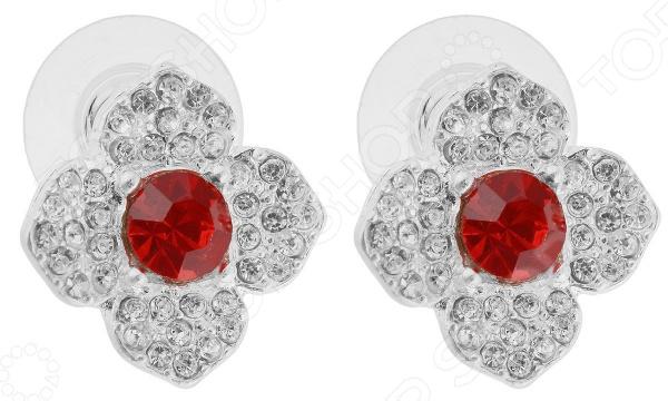 Серьги Bradex «Красный Цветок» стоимость