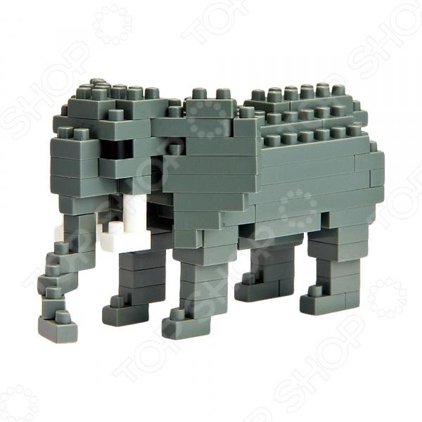 Мини-конструктор Nanoblock NBC_035 «Африканский слон» мини конструктор nanoblock dj сет