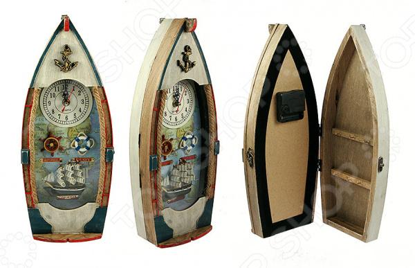 Ключница с часами «Рыбацкое судно»