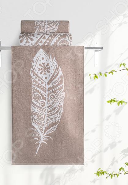Полотенце махровое Aquarelle «Борнео вид 3». Цвет: мокко, белый полотенце махровое aquarelle борнео вид 1 цвет мокко белый